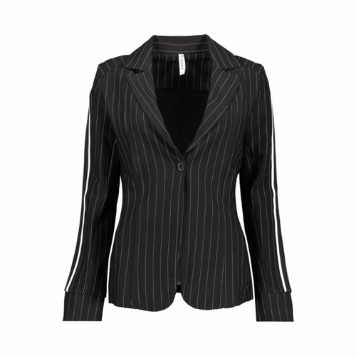 ZOSO ZOSO macy 18 pinstripe blazer black