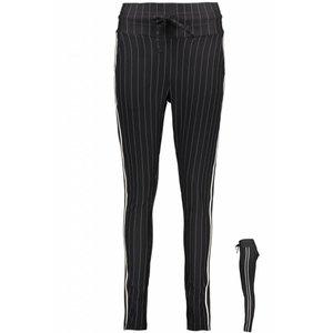 ZOSO ZOSO claire pinstripe trouser with tricoband black