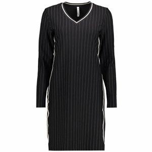 ZOSO ZOSO jessica pinstripe dress with tricoband black