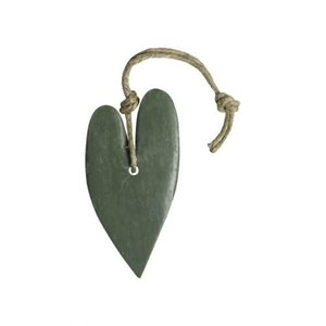 MIJN STIJL MIJN STIJL zeephanger Hart XL (leger)groen parfum olive