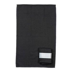 MIJN STIJL MIJN STIJL Keuken handdoek donker grijs met banderol