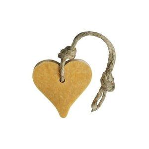 MIJN STIJL MIJN STIJL Zeephanger Hart goudkleurig parfum patchouli ylang ylang