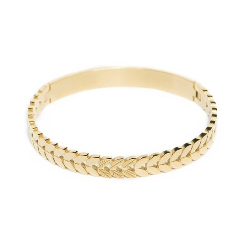 SiliS SiliS the bangle crown leaf gold out