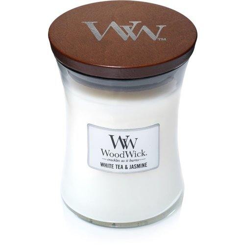 WoodWick WoodWick Medium Candle White Tea & Jasmine