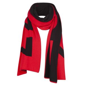 ZOSO ZOSO ZS77 2 knitted scarf red/black