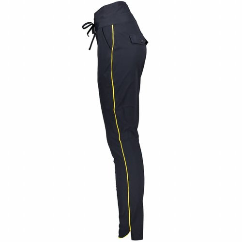 ZOSO ZOSO Travel pant with piping navy/yellow