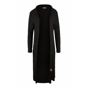 Zusss Zusss lekker lang vest off-black