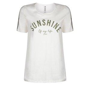 ZOSO ZOSO Printerd T-shirt off white/army