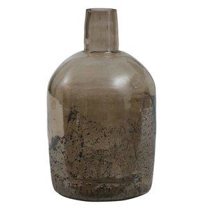 PTMD PTMD Cate Brown glass vase bottle shape L