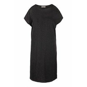 Zusss Zusss fijngebreid luchtig jurkje off-black