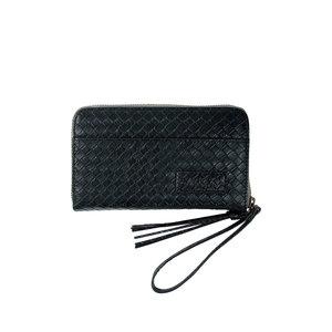 Zusss Zusss leuke portemonnee zwart gewafeld
