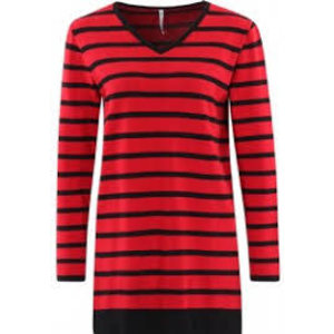 ZOSO ZOSO Wendy striped knitted sweater red/black