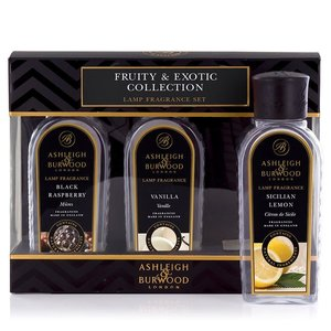 Ashleigh & Burwood Ashleigh & Burwood lamp fragrance oil fruity & exotic collection gift set 3x250ml