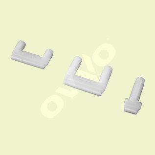 OVVO V-1230 connecteur solo permanente aux trous de tourillons 20 mm - 200 pièces