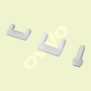OVVO V-1230 dowel-drilled permanent solo connector 20 mm - 1.000 pieces