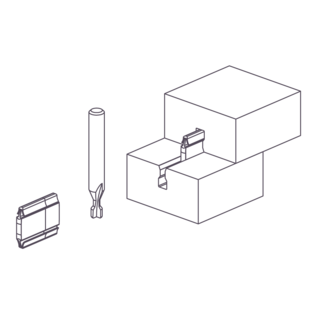OVVO V-1230 SOLO CNC/Nesting Cutter DIAMOND, shaft 12 mm