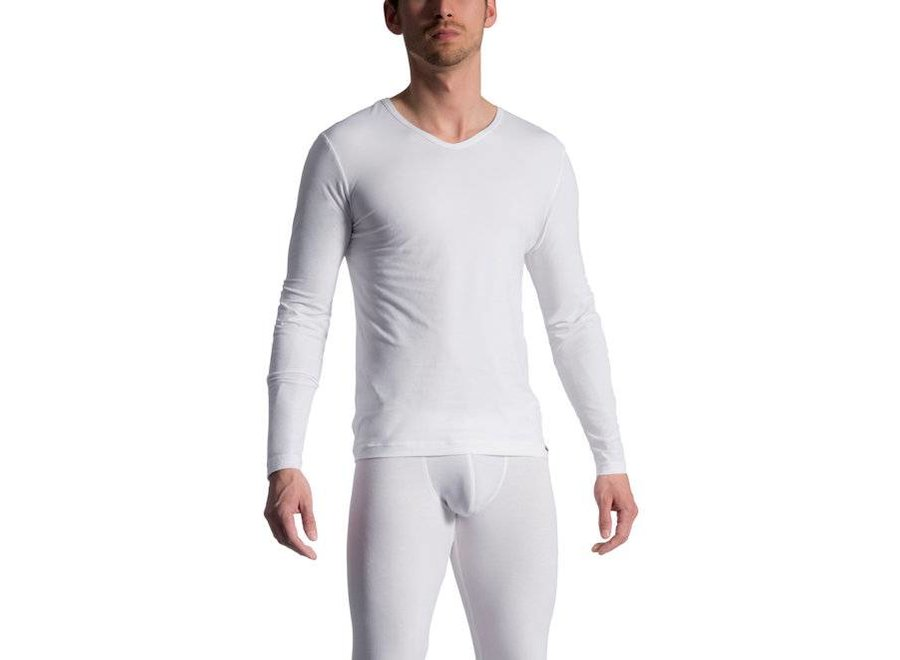 RED 1601 Longshirt White