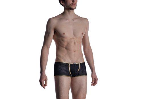 MANSTORE M2008 Bungee Pants Black-Gold