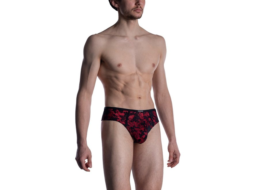 M2006 Shemale Brief Black-Red