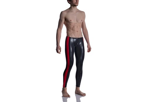 MANSTORE M2004 Bungee Leggings Black-Red