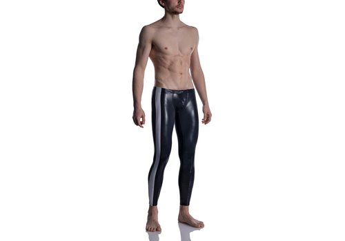 MANSTORE M2004 Bungee Leggings Black-White
