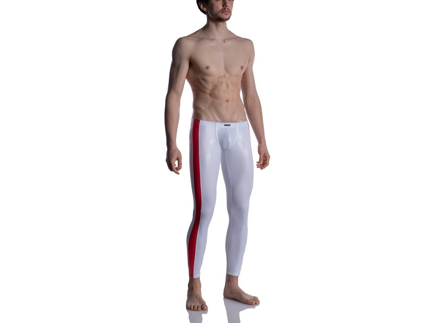 M2004 Bungee Leggings White-Red
