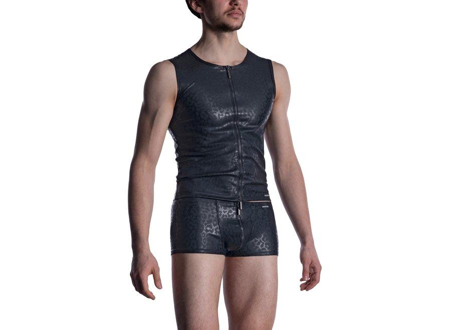 M2002 Zipped Vest Black