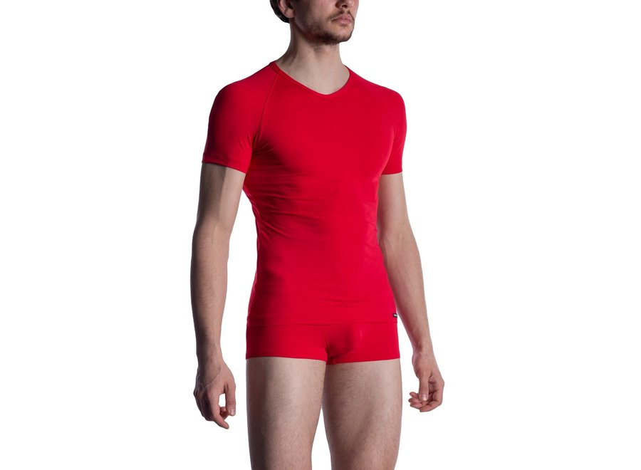 M800 V-Neck Tee (Reg) Red