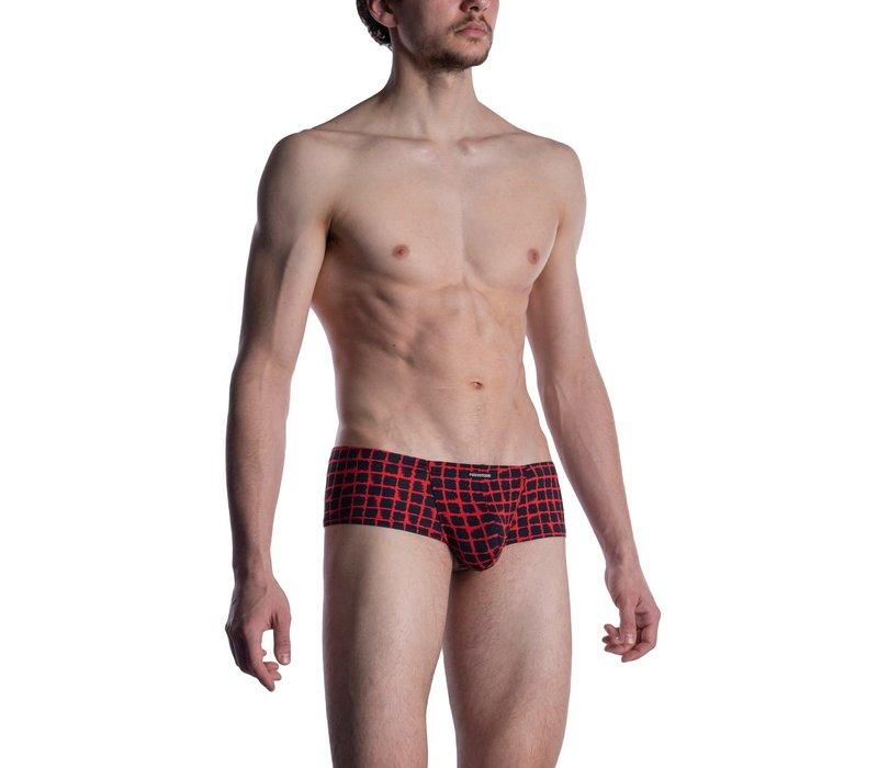 MANSTORE M800 Hot Pants Red-Black