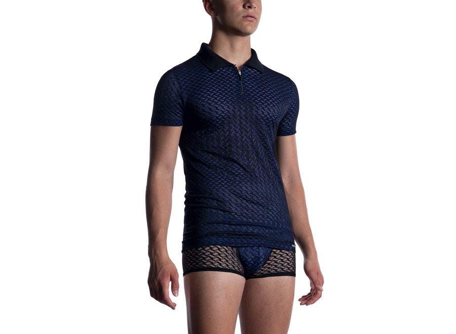 M2053 Polo Shirt Black Blue