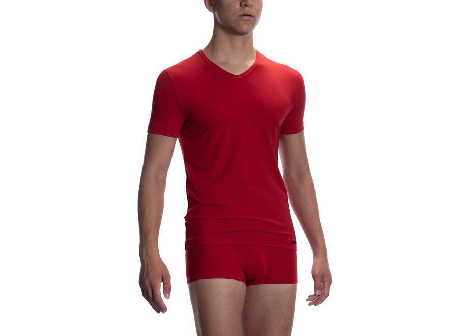 RED 2059 V-Neck (Reg) Red