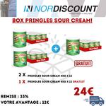 Pringles Box 16 Pringles  Sour cream