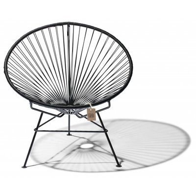 Condesa Chair in Black (Made w/ Recycled PVC)