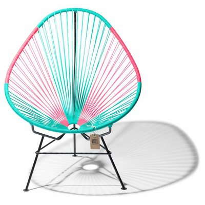 Acapulco Chair in Turquoise & Mexican Pink