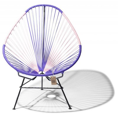 Bicolor Acapulco Chair in purple & pink