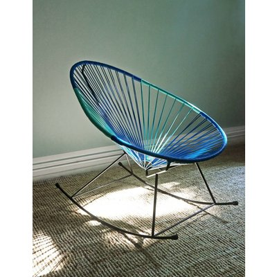 Acapulco rocking chair petrol blue & turquoise, bicolor