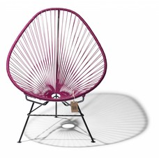 Acapulco chair violet wine