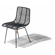 Rosarito Chair in Black (Made w/ Recycled PVC)