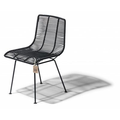 Rosarito Dining Chair in Black (Made w/ Recycled PVC)