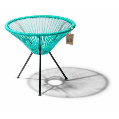 Table Japón in Turquoise, Glass Table Top