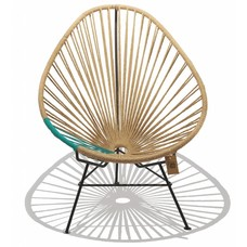 Acapulco Hemp Chair, Turquoise PVC Detail