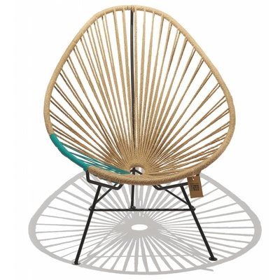Acapulco Hemp chair with a turquoise PVC detail