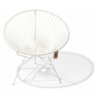 Condesa Chair in White, White Frame