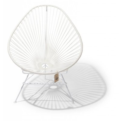Acapulco Chair in white with white frame