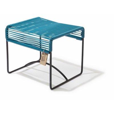 Xalapa stool or footrest petrol blue