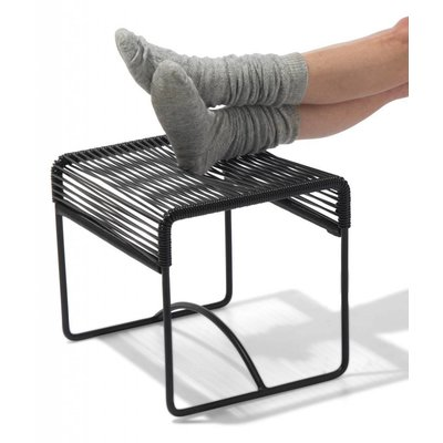 Xalapa Stool or Footrest in Black (Made w/ Recycled PVC)
