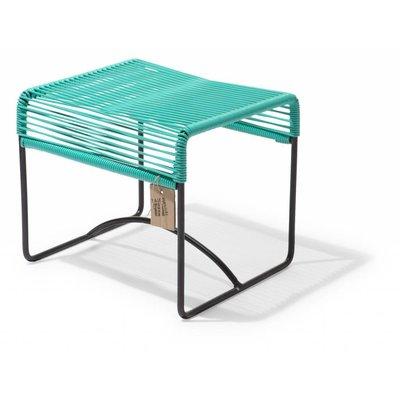 Xalapa stool or footrest turquoise