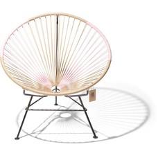 Condesa chair beige & pastel pink, bicolor