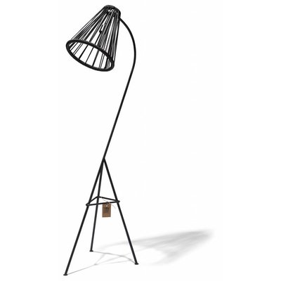 Kahlo Floor Lamp in Black (Made w/ Recycled PVC)