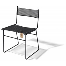 Polanco Dining Chair Sled Base Black (Made w/ Recycled PVC)